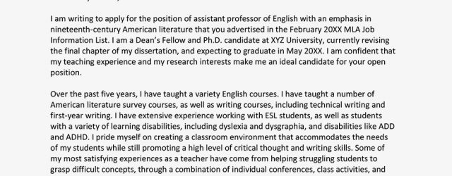 Academic Cover Letter How To Write An Academic Cover Letter With Examples