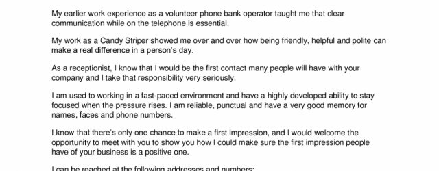 Cover Letter For Receptionist Cover Letter Cover Letter Examples For Receptionist Photos Hd Simple