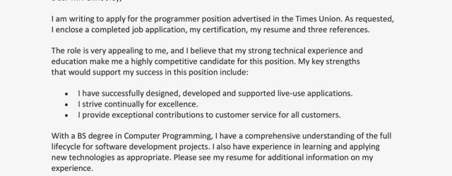 Example Of Cover Letter For Job Application Sample Cover Letter For A Job Application