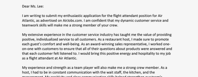 Flight Attendant Cover Letter Get Tips On Writing Your Flight Attendant Cover Letter