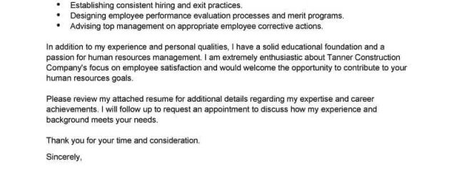 Human Resources Cover Letter Best Human Resources Cover Letter Samples Livecareer
