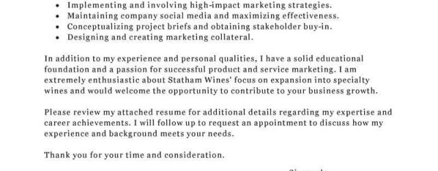 Marketing Cover Letter Best Marketing Cover Letter Examples Livecareer