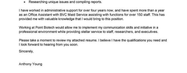 Office Assistant Cover Letter Best Office Assistant Cover Letter Examples Livecareer