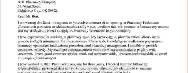 Pharmacy Technician Cover Letter Pharmacy Technician Cover Letter No Experience Clotrimazolhandk