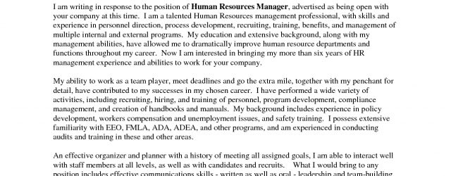 Best Cover Letters Outstanding Cover Letter Examples Hr Manager Cover Letter Example