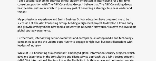 Consulting Cover Letter Consultant Cover Letter Samples And Writing Tips