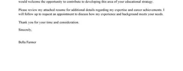 Cover Letter Examples For Teachers Leading Education Cover Letter Examples Resources