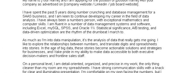 Data Analyst Cover Letter Free Data Analyst Cover Letter Sample Templates At