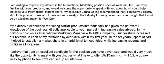 Examples Of Cover Letter Cover Letter Samples Division Of Student Affairs