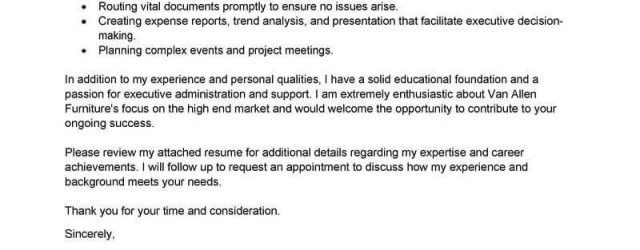 Executive Assistant Cover Letter Cover Letter Template Executive Assistant Cover Letter Template