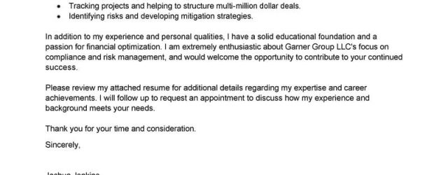 Financial Analyst Cover Letter Best Analyst Cover Letter Examples Livecareer