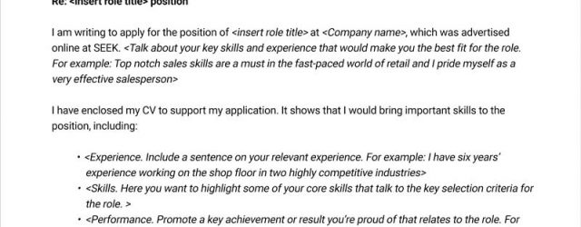 Free Cover Letter Template Free Cover Letter Template Seek Career Advice