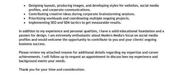 Graphic Design Cover Letter Best Graphic Designer Cover Letter Examples Livecareer
