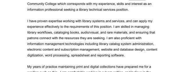 How To Open A Cover Letter Technical Services Open Cover Letters