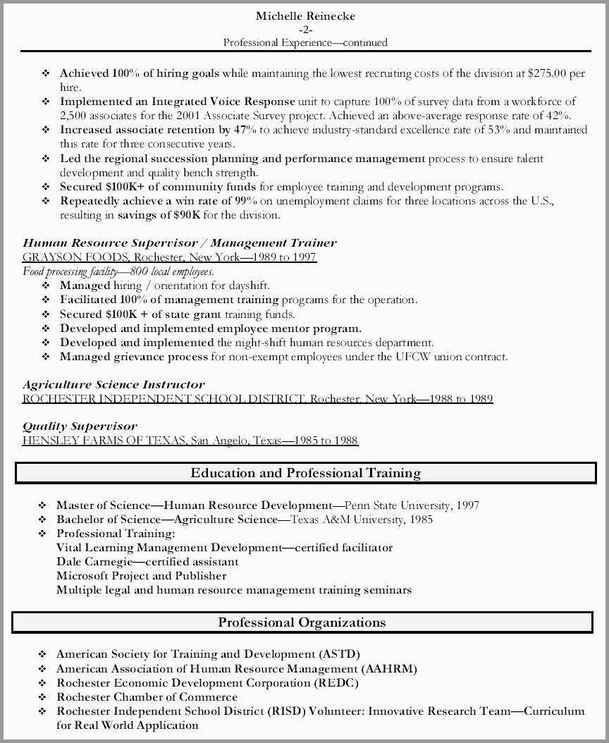 Human Resources Resume Hr Manager Resume Sample Good Top Human Resources Resume Templates