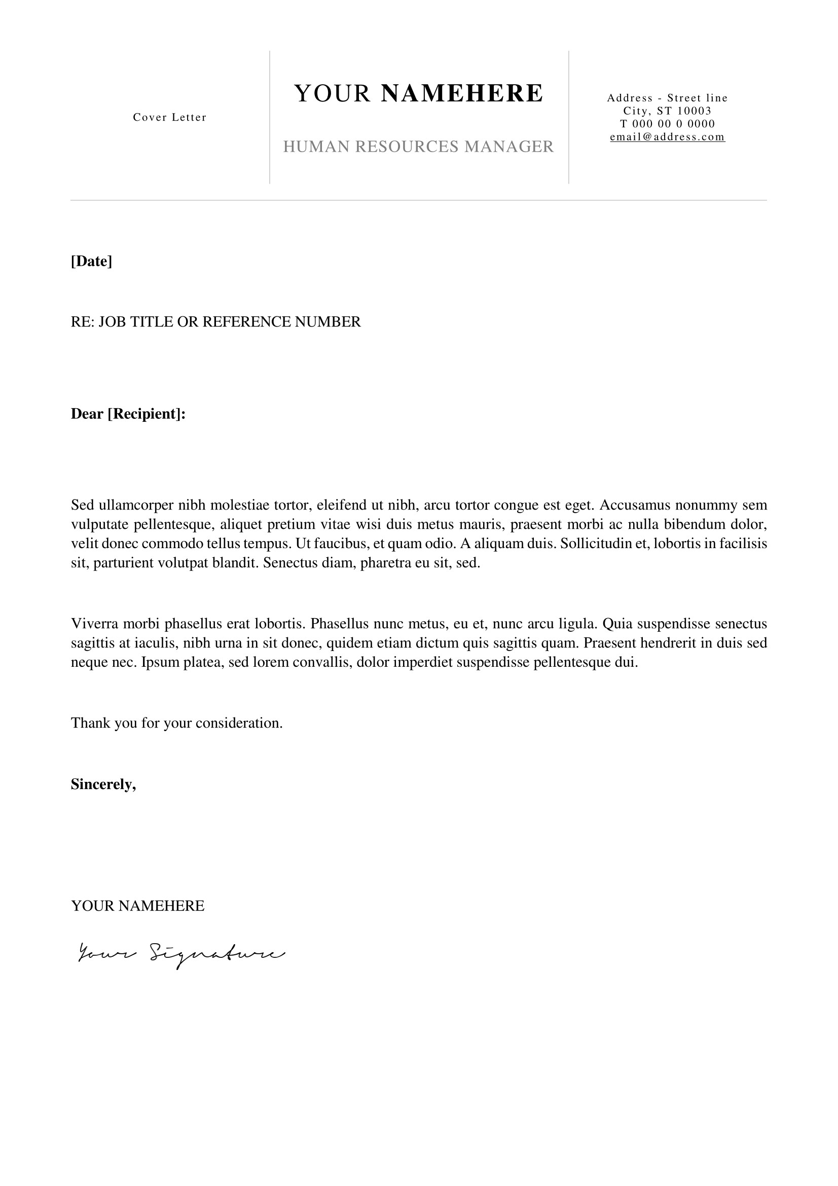 Simple Cover Letter Example Cover Letter Examples Docx Refrence Kallio Free Simple Cover Letter